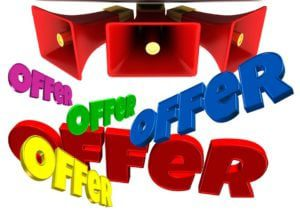 free bet offers coloured sign